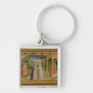 Visitation, from predella Annunciation Keychain
