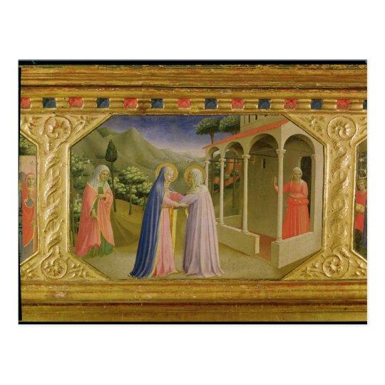 Visitation, from predella Annunciation Postcard