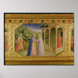 Visitation, from predella Annunciation Print