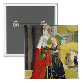 Visitation from the Dome Altar, 1499 2 Inch Square Button