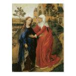 Visitation of Mary - Rogier Van Der Weyden Post Card