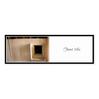 Visitation Window at Alcatraz Prison Double-Sided Mini Business Cards (Pack Of 20)