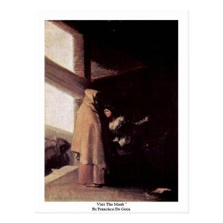 """Visite al monje """"por Francisco De Goya Tarjeta Postal"""