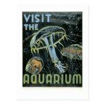 Visite el acuario - el poster de WPA - Postales