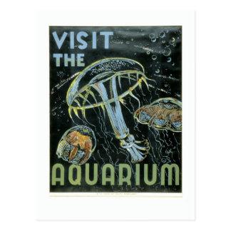 Visite el acuario - el poster de WPA - Postal