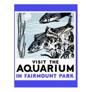 Visite el acuario en el parque WPA de Fairmont Tarjetas Postales