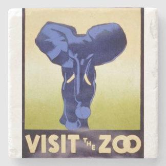 Visite el elefante del poster de WPA FAP del Posavasos De Piedra