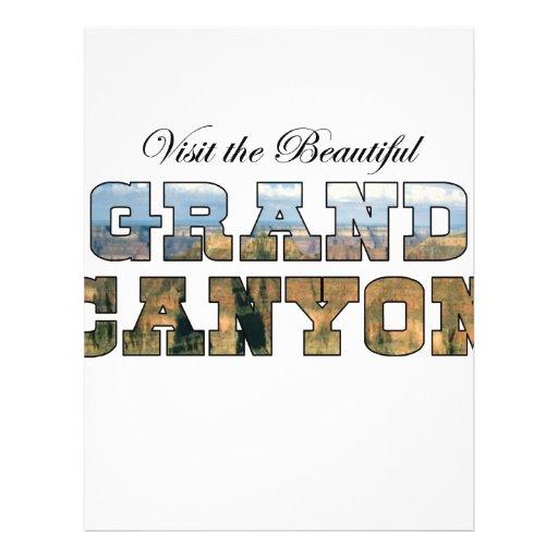 Visite el Gran Cañón hermoso Tarjeta Publicitaria
