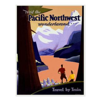 Visite el noroeste pacífico postal