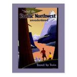 Visite el país de las maravillas del noroeste pací tarjetas postales