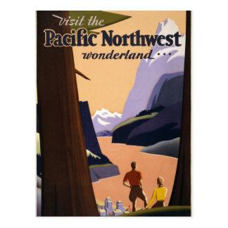 Visite el país de las maravillas del noroeste tarjetas postales