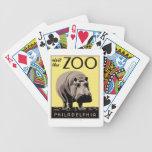 Visite el parque zoológico baraja de cartas