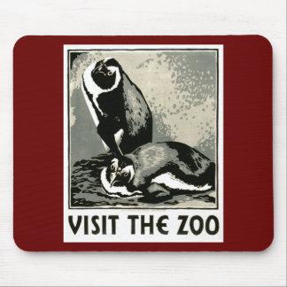 Visite el parque zoológico - el poster de WPA - Alfombrilla De Ratones