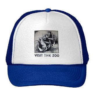 Visite el parque zoológico - el poster de WPA - Gorro