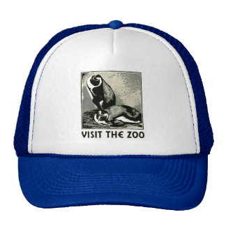 Visite el parque zoológico - el poster de WPA - Gorros Bordados