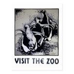 Visite el parque zoológico - el poster de WPA - Postales