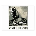 Visite el parque zoológico - el poster de WPA - Postal