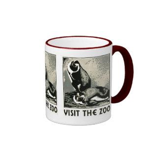 Visite el parque zoológico - el poster de WPA - Taza De Dos Colores