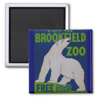 ¡Visite el parque zoológico!! Imán Cuadrado
