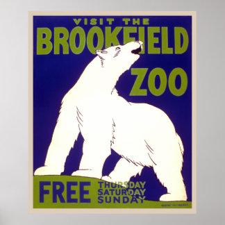 Visite el parque zoológico jueves libre, sábado de posters