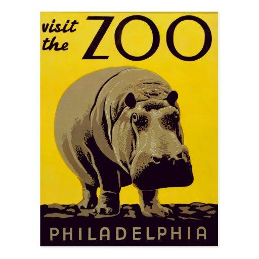 ¡Visite el parque zoológico!! Postal
