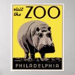Visite el parque zoológico póster