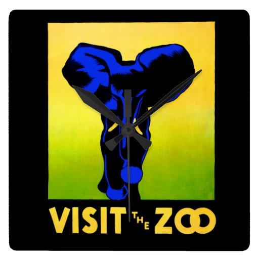 ¡Visite el parque zoológico! Reloj De Pared