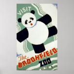 Visite el poster de WPA del vintage del parque zoo
