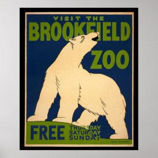 Visite el poster del parque zoológico de Brookfiel