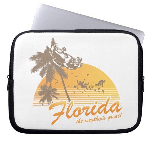 Visite la Florida, el tiempo grande - huracán Mangas Portátiles