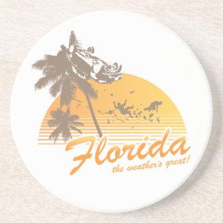 Visite la Florida, el tiempo grande - huracán Posavasos Manualidades