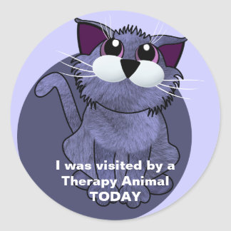 Visited by a Therapy Animal TODAY Classic Round Sticker