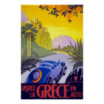 Visitez La Grece En Auto Greece Poster