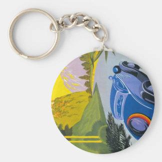 Visitez La Grece En Auto Key Chain