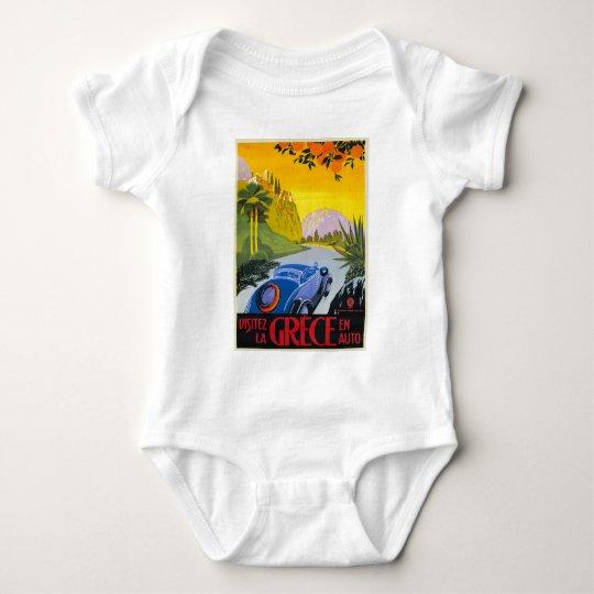 Visitez La Grece En Auto Retro Holiday Poster Baby Bodysuit