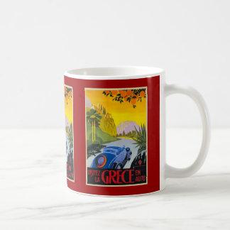 Visitez La Grece En Auto Retro Holiday Poster Mug