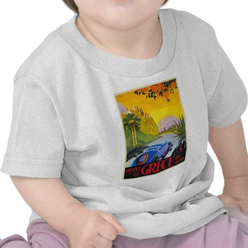 Visitez La Grece En Auto Retro Holiday Poster T-shirt