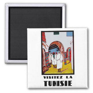 Visitez La Tunisie 2 Inch Square Magnet