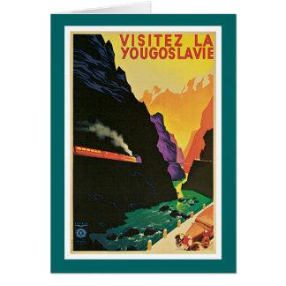 Visitez la Yougoslavie Vintage Travel Advertisemen Greeting Card