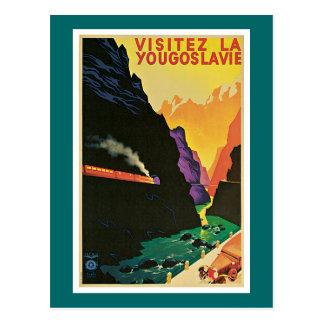 Visitez la Yougoslavie Vintage Travel Advertisemen Postcard