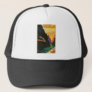 Visitez la Yougoslavie Vintage Travel Advertisemen Trucker Hat