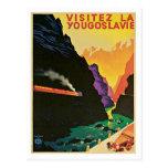 Visitez La Yougoslavie  Vintage Travel Poster Art Post Card