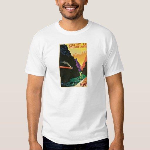 Visitez La Yougoslavie  Vintage Travel Poster Art T-shirts