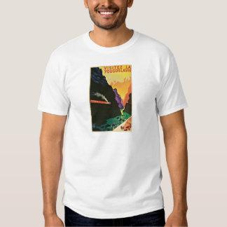 Visitez La Yougoslavie  Vintage Travel Poster Art Tee Shirt