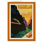"""Visitez la Yougoslavie"" Vintage Travel Poster Card"