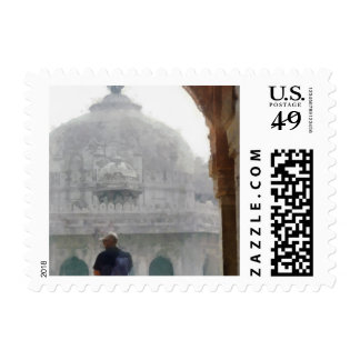 Visiting a heritage monument postage
