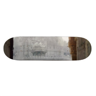 Visiting a heritage monument skateboard