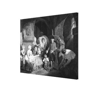 Visiting and Relieving the Miseries of a Canvas Print