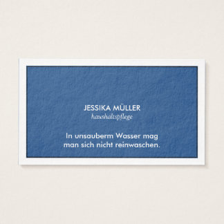 Visiting card cleanly