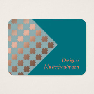 Visiting card, eastern sample business card